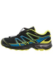 Salomon Wings Flyte 2 Gtx Trail Running Shoes Black Bright Blue Gecko Green