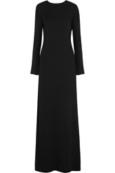 N 21 Armele Lace Paneled Stretch Crepe Gown Black