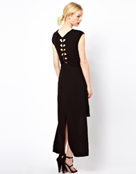 Kore By Sophia Kokosalaki T Shirt Dress With Knot Back Detail Black