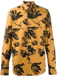 Marni Broken Promise Print Shirt Yellow And Orange