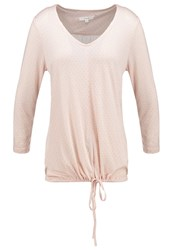 Opus Sammi Retro Long Sleeved Top Faded Peach Apricot