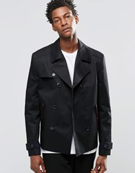 Hugo Boss By Peacoat In Water Repellent Cotton Black