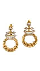 Elizabeth Cole Ashlen Statement Circle Earrings Gold Crystal
