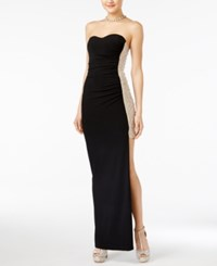 Jump Juniors' Strapless Embellished Bodycon Gown