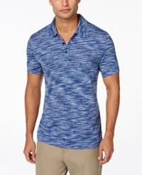 Alfani Black Men's Big And Tall Tobin Marled Polo Only At Macy's Hyper Blue