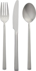Cb2 3 Piece Brushed Silver Flatware Set