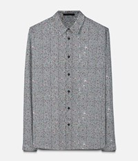 Christopher Kane Crazy Tweed Print Classic Shirt Grey