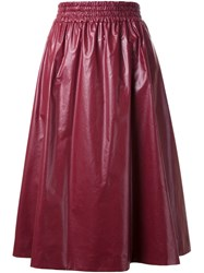Muveil Pleated Skirt Red