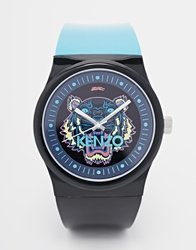 Kenzo Tiger Silicone Strap Watch Blue