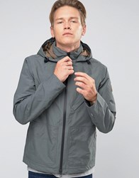 Timberland Hooded Windbreaker Jacket Water Resistant In Grey Urban Chic