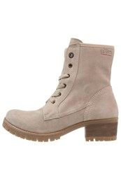 S.Oliver Laceup Boots Beige
