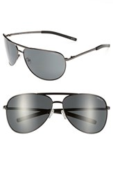 Smith Optics Women's Serpico 65Mm Polarized Aviator Sunglasses Gunmetal