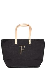 Cathy's Concepts 'Nantucket' Personalized Jute Tote Black Black F