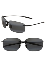 Maui Jim 'Breakwall Polarizedplus 2' 63Mm Sunglasses Black Gloss