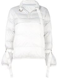 Sacai Puffer Pullover Jacket White