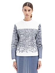 New Season Gabriele Colangelo Womens Embroidered Long Sleeved Cotton Top