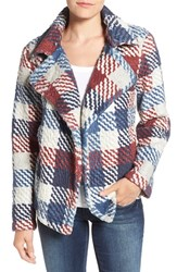 Vince Camuto Women's Two By Plaid Notch Collar Coat