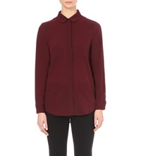 French Connection Polly Plains Oversized Pocket Shirt Red