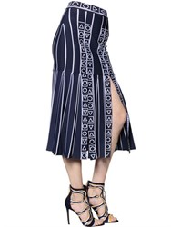 Peter Pilotto Pleated Stretch Viscose Knit Midi Skirt