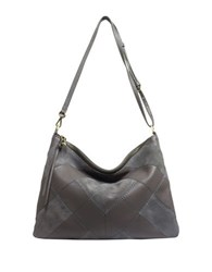 Sanctuary Leather Hobo Bag Grey Mica