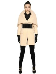 Balmain Oversize Collar Wool And Cashmere Coat