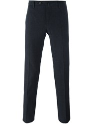 Pt01 Skinny Fit Checked Trousers Blue