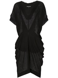 Alexandre Plokhov Cape Dress Black