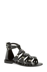 Women's Very Volatile 'Roman' Gladiator Sandal Black Leather