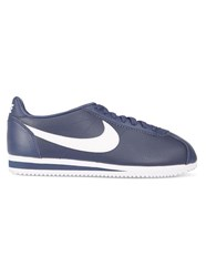 Nike Navy Classic Cortez Leather Sneakers Blue
