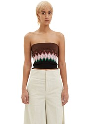 Marni Intarsia Knit Tube Top Black