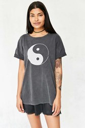 Truly Madly Deeply Washed Out Yin Yang Tee Washed Black