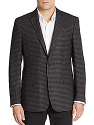 Versace Check Sportcoat Dark Grey