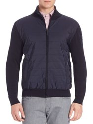Faconnable Modern Fit Quilted Nylon Jacket Blue