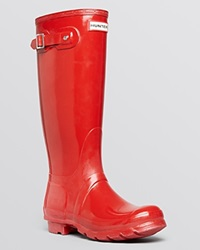 Hunter Rain Boots Original Tall Gloss Military Red