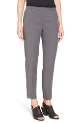 Eileen Fisher Petite Women's Woven Slim Leg Ankle Pants Ash