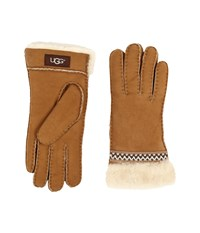 Ugg Classic Tasman Tape Gloves Chestnut Extreme Cold Weather Gloves Brown
