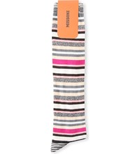 Missoni Multi Striped Long Socks Pink 0001
