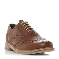 Barbour Redcar Casual Lace Up Brogues Brown