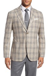 Lubiam Men's Classic Fit Plaid Wool And Cashmere Sport Coat
