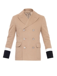 Gucci Double Breasted Cotton Peacoat