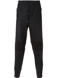 Dolce And Gabbana Pinstripe Track Pants Black