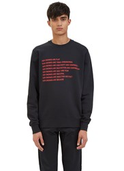 Yang Li Our Enemies Crew Neck Sweater Black