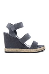 Balenciaga Suede Wedge Sandals In Gray