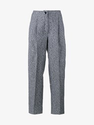 Walk Of Shame High Waisted Banana Pants Grey White