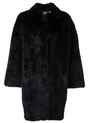 Simonetta Ravizza Fur Coat Black