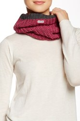 Hunter Wide Ribbed Snood Scarf Gray