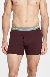 Under Armour Charged Cotton Boxer Briefs 3 Pack Scatter Rifle Green Ox Blood