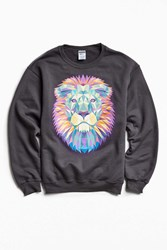 Urban Outfitters Lion Fleece Crew Neck Sweatshirt Charcoal