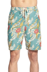 Tailor Vintage 'Wakiki' Floral Print Swim Trunks Multi Colored