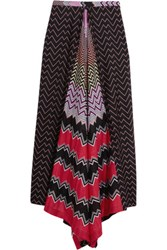 Missoni Mare Asymmetric Crochet Knit Coverup Black